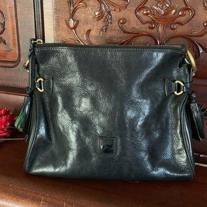 Dooney & Bourke Black Leather Satchel/Shoulder Bag